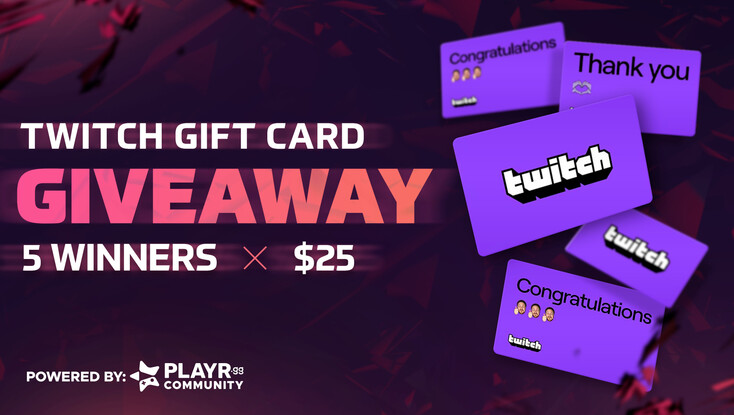 Twitch Gift Card Community Giveaway!