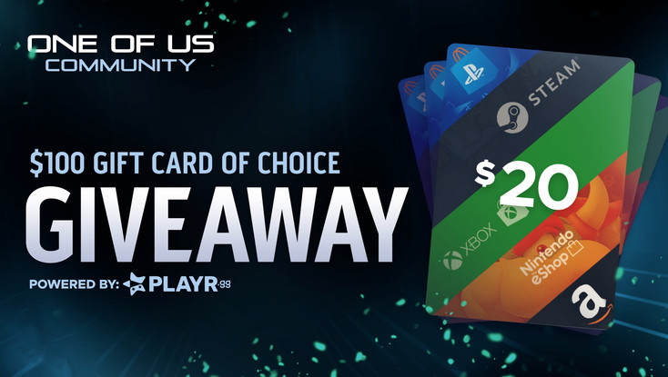 The One of Us Community - Oct. Gift Card Giveaway!