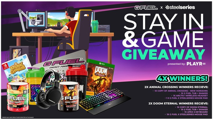 G FUEL x SteelSeries Stay In & Game Giveaway!